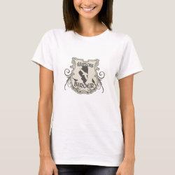 Women's Basic T-Shirt with Illinois Birder design