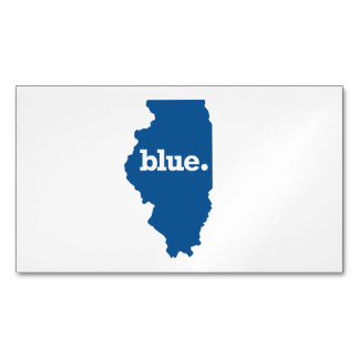 ILLINOIS BLUE STATE MAGNETIC BUSINESS CARD