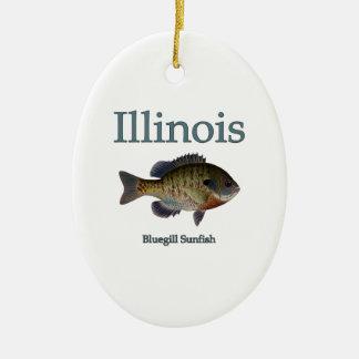 Illinois Bluegill Sunfish Ceramic Ornament