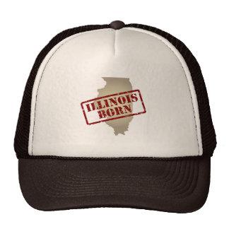 Illinois Born - Stamp on Map Trucker Hat