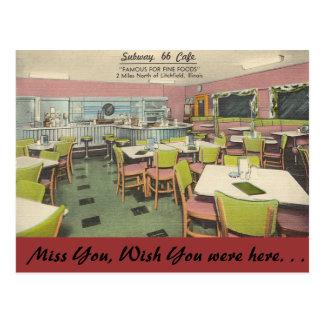 Illinois, café del subterráneo 66, Litchfield Tarjetas Postales