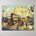 Illinois Central Railroad 1882 Poster