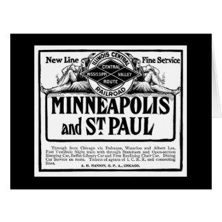 Illinois Central Railroad Greeting Card