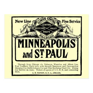Illinois Central Railroad Post card