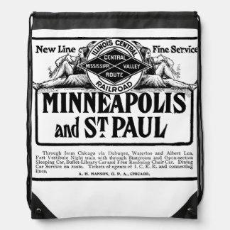 Illinois Central Railroad Vintage Backpack