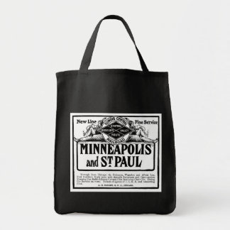 Illinois Central Railroad Vintage Grocery Totes