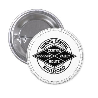 Illinois Central Railroad Vintage Logo Button