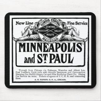 Illinois Central Railroad Vintage Mousepad