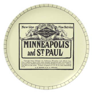 Illinois Central Railroad Vintage Party Plate