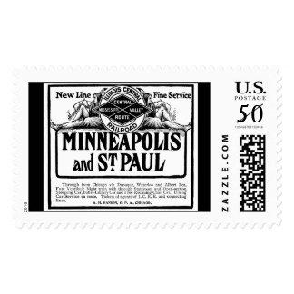 Illinois Central Railroad Vintage Postage