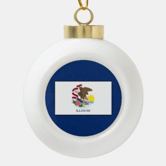 Illinois Ceramic Ball Christmas Ornament
