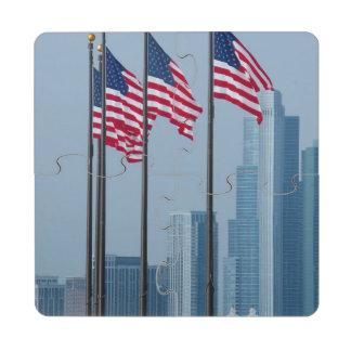 Illinois, Chicago. El embarcadero de la marina de Posavasos De Puzzle