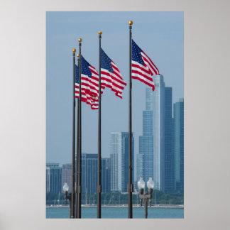 Illinois, Chicago. El embarcadero de la marina de Póster