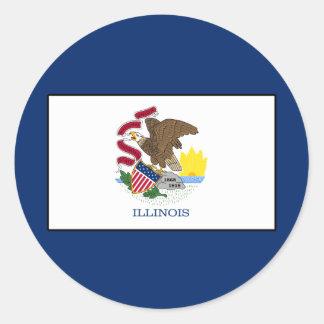Illinois Classic Round Sticker