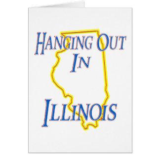 Illinois - colgando hacia fuera tarjeta