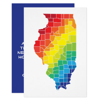 illinois color counties card