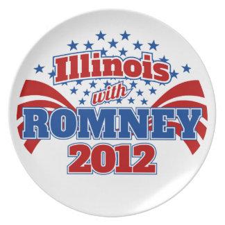 Illinois con Romney 2012 Plato De Comida