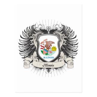 Illinois Crest Postcard