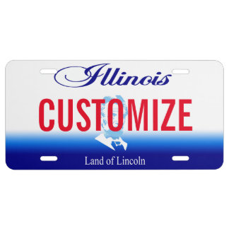 Illinois Custom License Plate