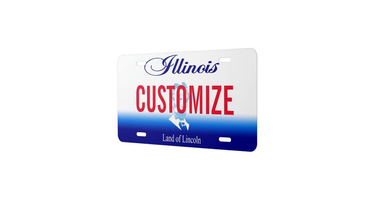 Illinois Custom License Plate | Zazzle