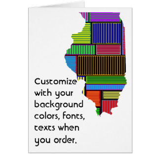 Illinois Customize colorful card how you like