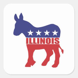 Illinois Democrat Donkey Stickers