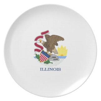 Illinois Dinner Plates