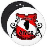 Illinois Diver Round Button