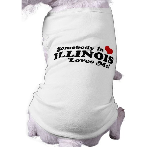 ILLINOIS DOG TEE SHIRT
