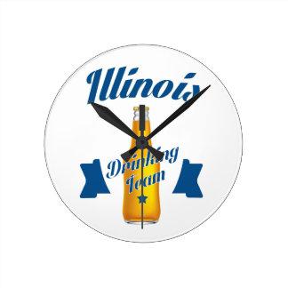 Illinois Drinking team Round Clock