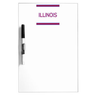 Illinois Dry Erase Board with Pen