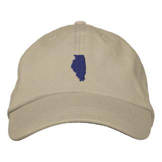 Illinois Embroidered Baseball Hat