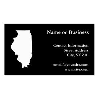Illinois en blanco y negro tarjetas de visita