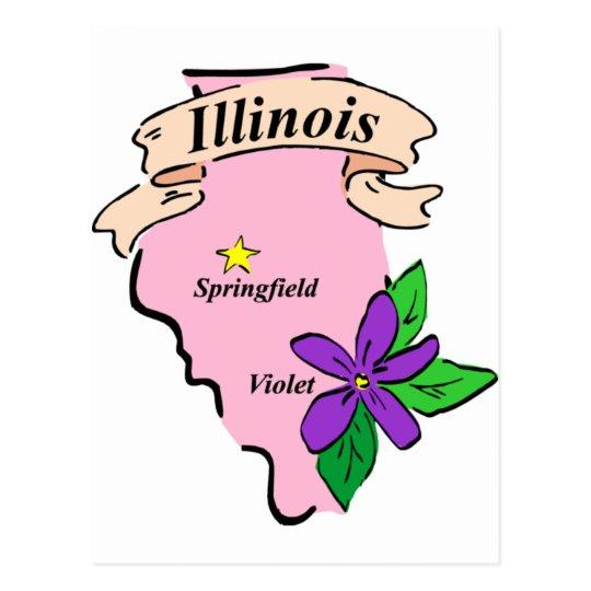 Illinois en colores pastel postales