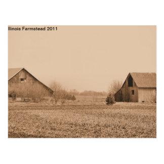 Illinois farmstead 21st Century Postcard