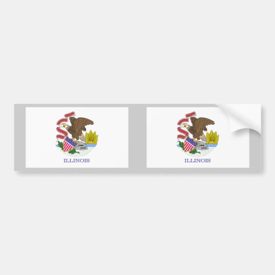 Illinois Flag Bumper Sticker