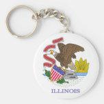 Illinois Flag Key Chain