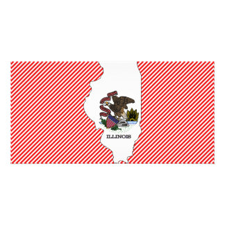 Illinois Flag Map Card