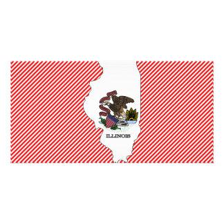 Illinois Flag Map Photo Card Template