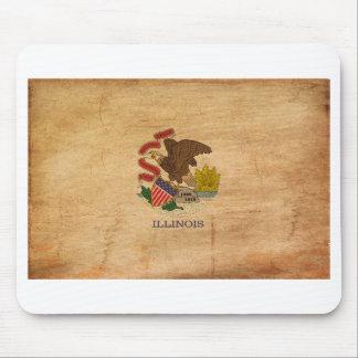 Illinois Flag Mouse Pad