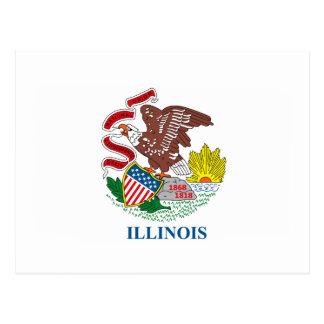 Illinois Flag Postcard