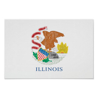 ILLINOIS Flag Poster