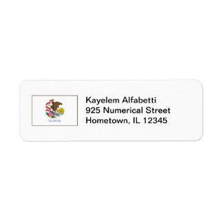 Illinois Flag Return Address Label