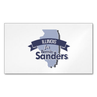Illinois for Bernie Sanders Magnetic Business Cards (Pack Of 25)