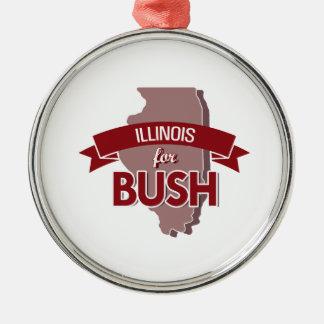 ILLINOIS FOR BUSH -.png Christmas Ornaments
