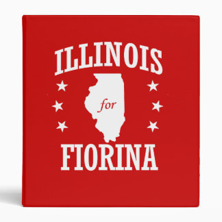 ILLINOIS FOR FIORINA 3 RING BINDERS