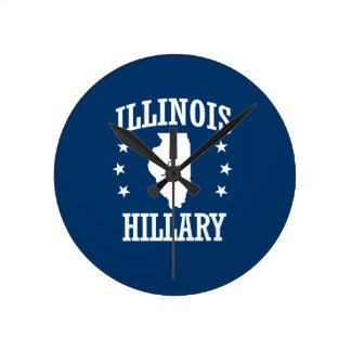 ILLINOIS FOR HILLARY ROUND CLOCK