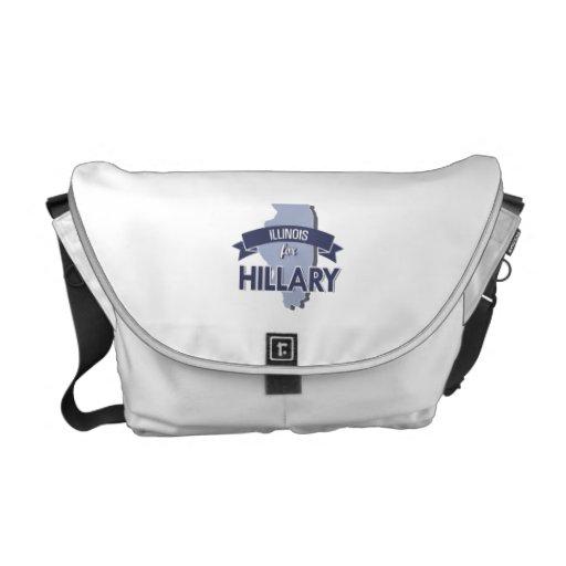 ILLINOIS FOR HILLARY -.png Messenger Bag