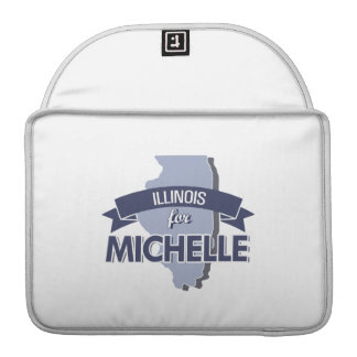 ILLINOIS FOR MICHELLE -.png Sleeve For MacBook Pro