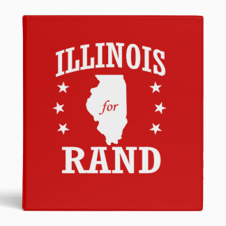 ILLINOIS FOR RAND PAUL 3 RING BINDERS